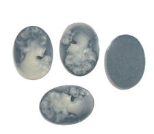 20 Resin POP Lady Oval Cameo Embellishment Findings 17x24mm