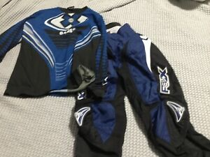FOX Racing Motocross Bike Riding Pants Youth Boys 12 14 28 Black Blue X Games Sh