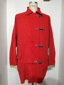 FAY 4 GANCI 90's giaccone giacca vintage originale coat red size XXL