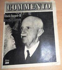 SETTIMANALE ILLUSTRATO PER TUTTI   COMMENTO  N°  1 1948  ORIGINALE !!!