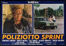 POLIZIOTTO SPRINT, MAURIZIO MERLI, LILLI CARATI, AUTO CAR, FOTOBUSTA 2 POSTER