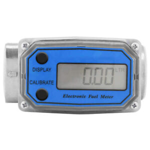 "High Accuracy 1"" Diesel Fuel Flow Meter Flowmeter Fits Sea Measure Diesel AU"