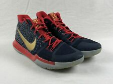 Nike Kyrie 3 iD Lightweight - Navy/Red/Gold Basketball Shoes (Men's 15) - Used