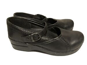 Dansko Black Marah Mary Jane Mules Women's Size 39