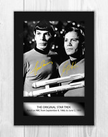Star Trek A4 (2) signed mounted photograph picture poster. Choice of frame.