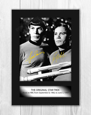 More details for star trek a4 2 signed mounted photograph picture poster choice of frame