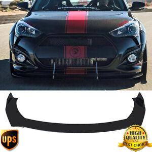 Front Bumper lip Spoiler Gloss Black For Hyundai Genesis Veloster Senata Accent