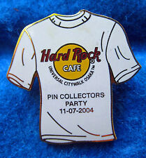 UNIVERSAL OSAKA PIN COLLECTORS PARTY WHITE T-SHIRT 2004 AUTUMN Hard Rock Cafe LE