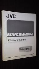 JVC kd-55 a b c e j u service manual original stereo cassette deck tape player
