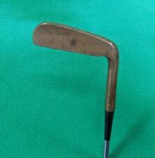 """Vintage Wilson Gene Sarazen Brass Blade Putter Leather Grip RH 35"""""""