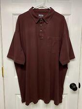 Duluth Trading Co. Mens S/S Longtail Jersey Polo Shirt: 2XL, Brown, Pocket