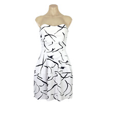 ELLIATT Size XS 6 Moonlight Mini Dress Strapless Cream Print Stretch EUC