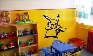 Pikachu Pokemon Wall Art Vinyl Decal Sticker Removable Cartoon Character Catch