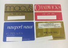 4 Expired Credit Cards For Collectors - Retail Lot  (7249)
