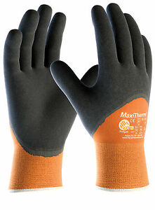 ATG MaxiTherm Latex Foam Thermal 3/4 Dipped Grip Cold Wet Work Gloves (30-202)
