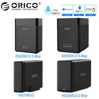 "ORICO USB 3.0 to 2.5""/3.5"" SATA 3.0 External SSD HDD Hard Drive Enclosure Case"
