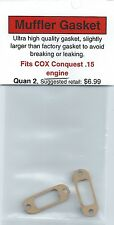 COX Conquest .15 Exhaust/Muffler Gasket 2 Pack NIP