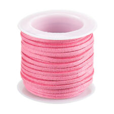 Faux Suede Flat Cord Lace (1.5x3mm) Pink 5 Metre Reel (F78)