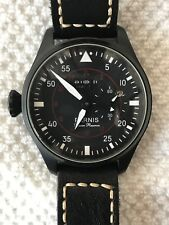 Asian Made Military Mechanical Automatic Pilot's Style Black Watch