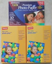 150 Staples & Walgreens Gloss Photo Paper Sheets - 4 x 6 in For Inkjet Printers