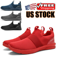 Men's Athletic Casual Sneakers Walking Tennis Slip on Shoes Gym Running Sports