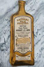 National Folk Festival Poster, 1975 Pete Seeger Bottle shaped