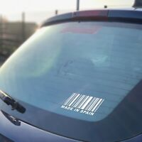 Made In Spain Sticker Barcode Decal Vinyl Funny Drift Seat Ibiza Leon FR Cupra