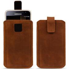 Samsung Galaxy J3 2017 Leder Tasche Pull Up Sleeve Hülle Braun Schutz Case Nauc