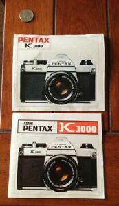 2 Asahi Pentax K 1000 Camera Manuals