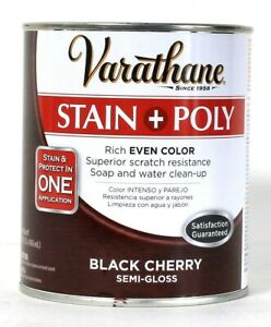 1 Varathane 32 Oz Stain & Poly In 1 Application 266155 Black Cherry Semi Gloss