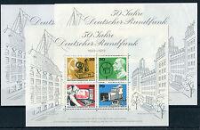 Berlin Block 4 ** postfrisch (3 Stück) 455 - 458 Deutscher Rundfunk 1973 MNH