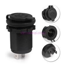 Car Boat Motorcycle Waterproof Cigarette Lighter Socket Power Plug Outlet 12V US