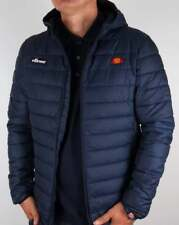 ellesse Lombardy Padded Jacket in Navy Blue - Hooded Coat Puffa Puffer XS