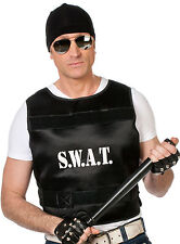 Spezialeinheit SWAT Weste für Erwachsene NEU - Zubehör Accessoire Karneval Fasch