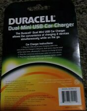 Duracell Fast Charging Dual Mini 2 USB Port 3.1 amp Car Charger (DUX8212) NEW
