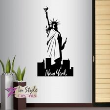 Vinyl Decal New York City USA NYC Statue Of Liberty Monument Wall Decor 399