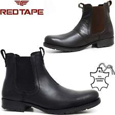 Mens Leather Chelsea Combat Ankle Cowboy Military Army Biker Boots Shoes Size