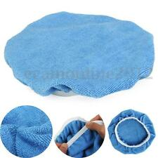 9-10'' Inch Blue Plush Soft Car Polishing Waxing Bonnet Buffing Sleeve Pad Cover