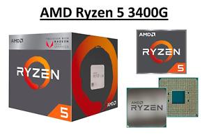 AMD Ryzen 5 3400G Quad Core Processor 3.7 - 4.2 GHz, Socket AM4, 65W CPU