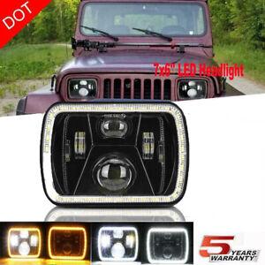 "5X7"" 7x6"" Inch LED Headlight Hi-Lo Beam For Ford GMC Jeep Cherokee XJ YJ"