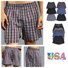3 6 12 Pack Men Boxer Shorts Underwear Lot Plaid Checker Trunk Cotton Brief S-3X
