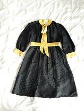 Milly Of New York Mujer Negro y Amarillo Lunares Vestido De SEDA Talla 8 Reino Unido