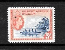 GILBERT & ELLICE  1956 5d QEII   MLH SG 69