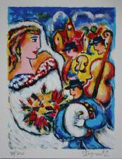 "Zamy Steynovitz ""Bride & Music"" Bride & wedding orchestra s/n serigraph art"