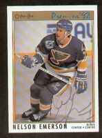Nelson Emerson signed autograph 1992 O-Pee-Chee Premier