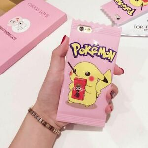 TPU Cartoon Pokemon Pikachu Soft Cover Case compatible with iPhone 6 6S