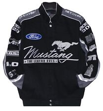 Authentic Mustang Cotton Black Gray Jacket JH Design All Size Embroidered XL