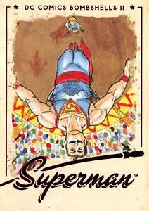 SUPERMAN / DC Comics Bombshells II 2 (2018) BASE Trading Card #57