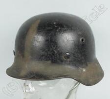WH, LW Stahlhelm M40 Glocke Q62 , Heer, schwarz, Futter ergänzt, 2.WK, WW2 /603