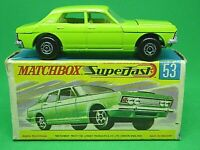 Matchbox Lesney No.53c Ford Zodiac Mk.IV In Type 'G2' Box (RARE LIME GREEN)